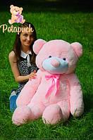Большой плюшевый мишка 120см розовый