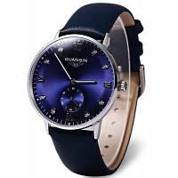 GUANQIN GJ16016 модные мужские механические часы Синий