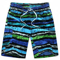 Прямая нога Drawstring Mix Color Print карманом мужские шорты совета 2XL