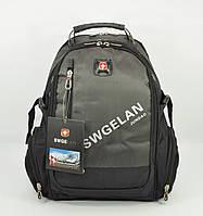 Рюкзак городской SwissGear 1416 хаки, выход для USB, наушников