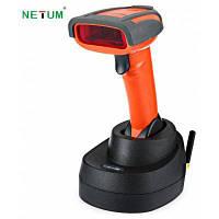 NETUM NT-2800 Беспроводной сканер штрих-кодов на аккумуляторной батарее Красный