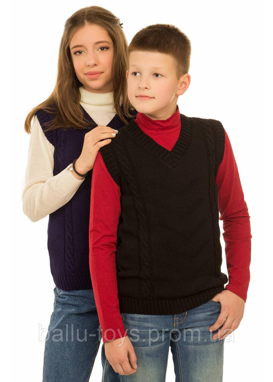 Вязаная жилетка детская Фиеста (6-8 лет)