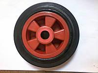 Колесо литое из черной резины 160 мм,450160