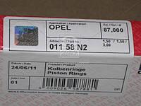 Кольца поршневые OPEL 87,00 2,0/2,2 C20NE/X20XEV (производство Mahle) (арт. 011 58 N2), ABHZX