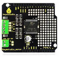 Keyestudio L298P 2A высокий ток двойной Двигатель постоянного тока привода доска Чёрный