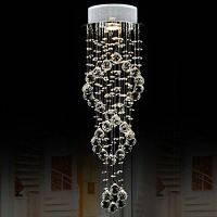 LightMyself Сдвоенная спиральная светодиодная хрустальная люстра для банкетного зала 220-240