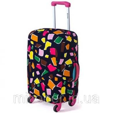 Чехол для чемодана Bonro маленький S кубики