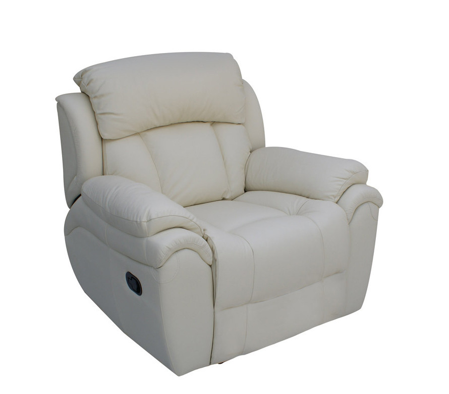 Кожаное кресло реклайнер Boston, кресло с реклайнером, реклайнер