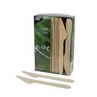 Нож одноразовый деревянный 16,5 см Pap Star