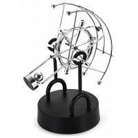 Вентилятор-в форме Дельфина кинетической рабочий стол игрушки электронные качели Вечного движения искусства украшения офиса серебристый и черный