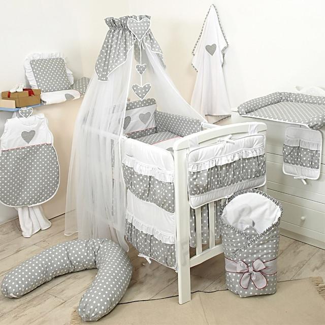 Детское постельное белье в комплекте с бортиками в кроватку для  новорожденных 8a541daadee49
