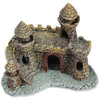 Декор для аквариума замок Темно-коричневый