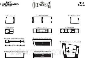 Накладки на панель BMW 3 E-46 (Compact)
