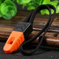 Ganzo Пластиковый свисток на шнурке для туризма Оранжевый