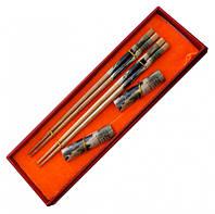 Палички для суші в подарунковій коробці з підставками №5