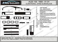 Накладки на панель Audi 100 (сигара) Hartman