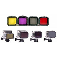 4 в 1 комплект фильтра объектива для дайвинга для GoPro Hero 3+ Цветной