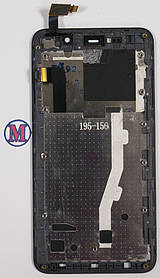 LCD модуль в рамке THL W200 черный
