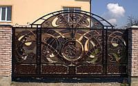 Кованые откаточные ворота
