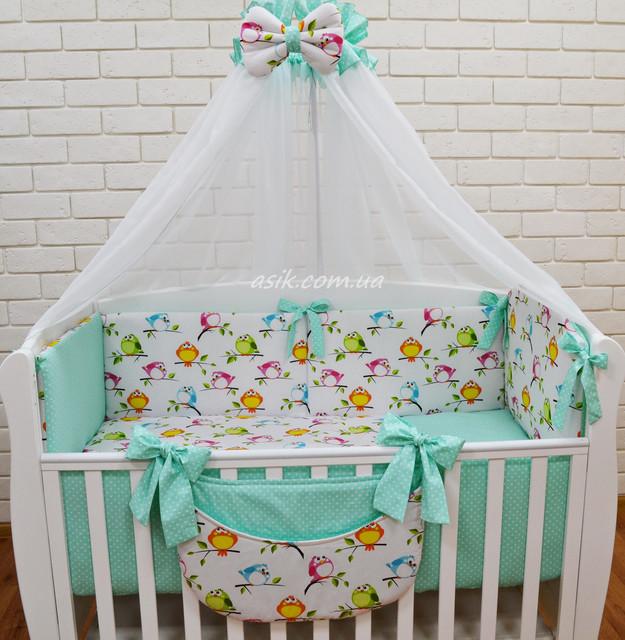 Детское постельное белье в комплекте с бортиками в кроватку для ... 2e72639d5069e