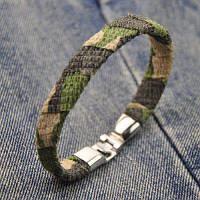Браслет из искусственной кожи в винтажном камуфляжном дизайне камуфляжный цвет