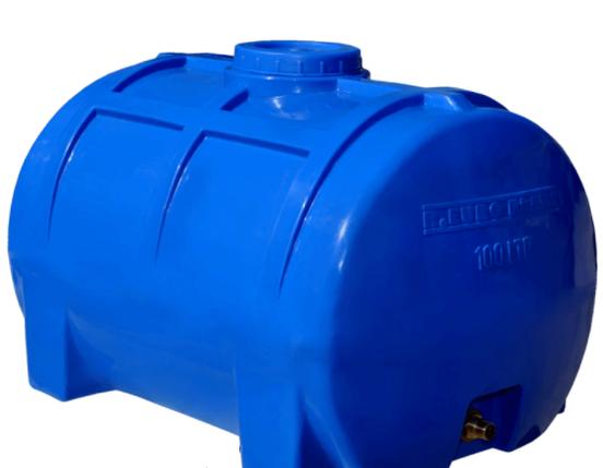 Емкость горизонтальная 100 литров (70х45х45) 1-слойная, фото 2
