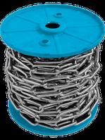 Цепь длиннозвенная 2 мм цинк 80 метров в бухте DIN 5685 C