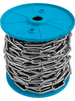 Цепь длиннозвенная 4 мм цинк 40 метров в бухте DIN 5685 C