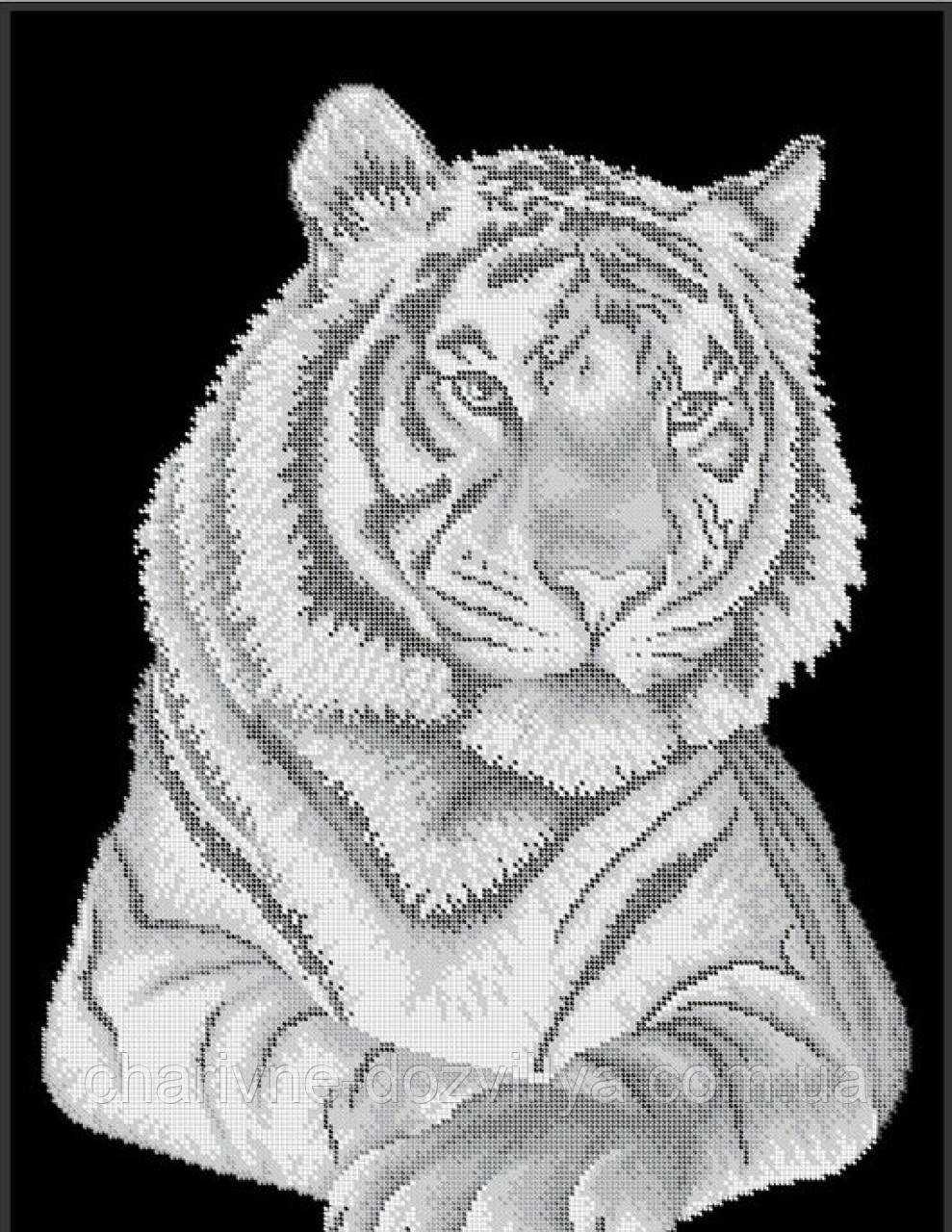 "Схема для вышивки бисером (бісером) на габардине ""Тигр"" (40х60см)"