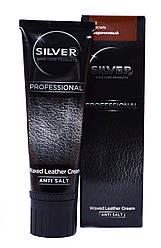 "Крем краска для обуви Silver Professional ""Waxed Leather Cream"" (цвет коричневый) 75 ml"