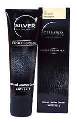 "Крем краска для обуви Silver Professional ""Waxed Leather Cream"" (цвет скорлупа) 75 ml"