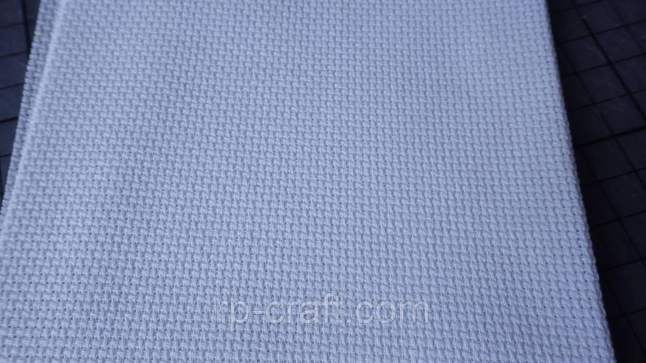 Отрез ткани для вышивки. Аида 14, белая, 21х79 см