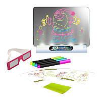 ТОП ВЫБОР! 3D доска для рисования, волшебная доска для рисования, электронная доска для рисования, Magic Drawing Board, интерактивная доска для