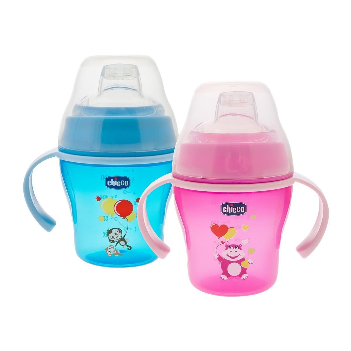 "Чашка ""Soft cup"" Chicco , розовая/голубая (6+)"