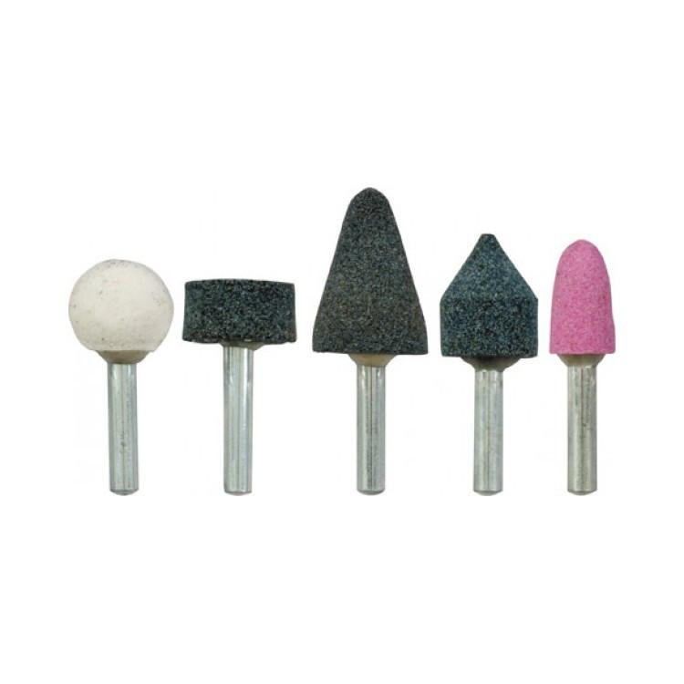 Набір шліфувальних каменів на штоку 6 мм (5 шт) (18320-11)