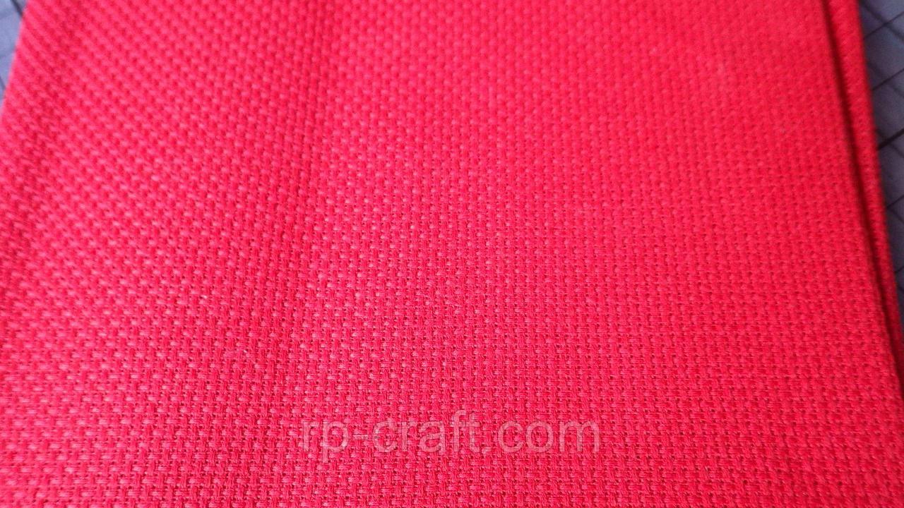 Отрез ткани для вышивки. Аида 14, красная, 35х63 см