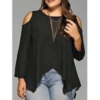Блуза больших размеров с открытыми плечами XL