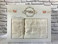 Подарочный бамбуковый набор полотенец Pupilla 2-в-1 (лицо, баня)