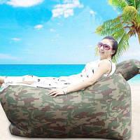 Сверхлегкий надувной ленивый диван с подушкой пляжным креслом для отдыха камуфляжный