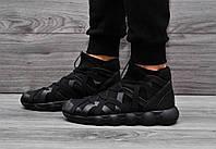 Кроссовки мужские Fashion Mato летние стильные высокие на массивной подошве черные кросовки в стиле фешн мато