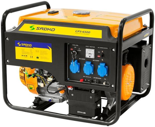 Генератор бензиновый SADKO GPS 6500Е - электростанция Садко 5.5 кВт