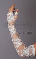 Перчатки белый гипюр KS14-1-2