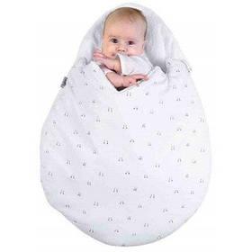 Мягкий хлопковый конверт для младенца - Кремовый