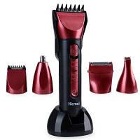 Kemei KM-8058 Профессиональная моющаяся многофункциональная машинка для стрижки волос бритва Европейская вилка