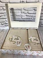 Подарочный бамбуковый набор полотенец Pupilla 3D 2-в-1 (лицо, баня) №12