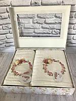 Подарочный бамбуковый набор полотенец Pupilla 3D 2-в-1 (лицо, баня) №13