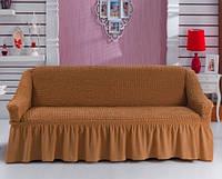 Чехол на трехместный диван Arya Темно-горчичный
