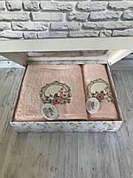 Подарочный бамбуковый набор полотенец Pupilla 3D 2-в-1 (лицо, баня) №2