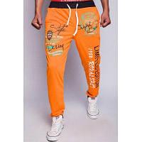 Свободная посадка Модные Drawstring Письма цветной печати Блок ребер Сращивание Beam ноги мужские спортивные штаны полиэстер 2XL