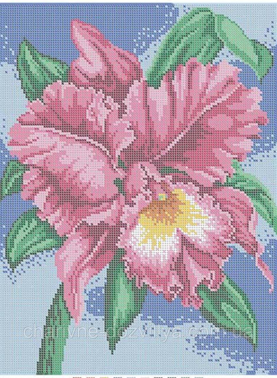"""Схема для вышивки бисером (бісером) на габардине """"Орхидея"""""""